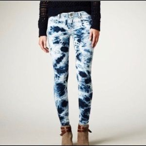 American Eagle Tie Dye Skinny Jeggings